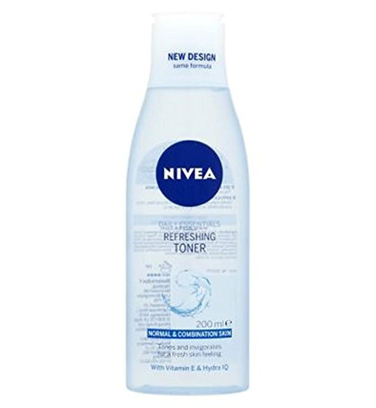 カニまっすぐボクシングトナー200ミリリットルをリフレッシュニベア生活必需品 (Nivea) (x2) - Nivea Daily Essentials Refreshing Toner 200ml (Pack of 2) [並行輸入品]