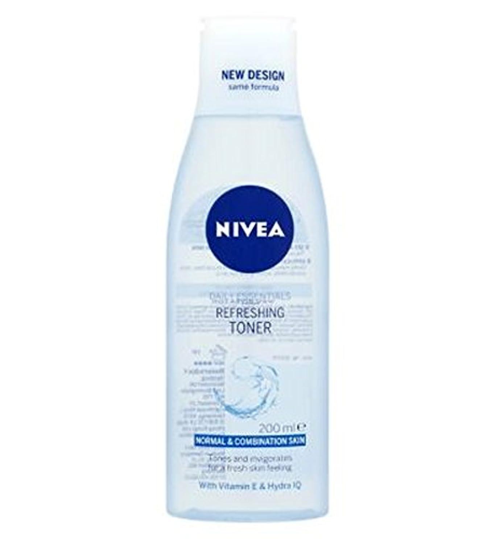 徒歩で荷物展開するトナー200ミリリットルをリフレッシュニベア生活必需品 (Nivea) (x2) - Nivea Daily Essentials Refreshing Toner 200ml (Pack of 2) [並行輸入品]