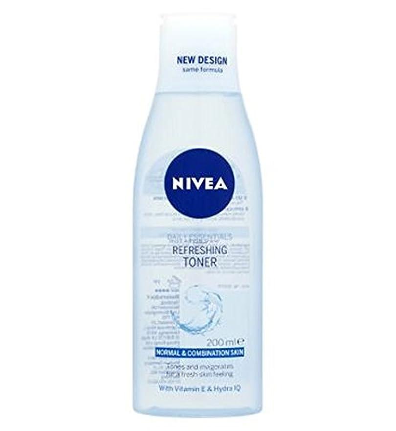 付添人効率的に売上高トナー200ミリリットルをリフレッシュニベア生活必需品 (Nivea) (x2) - Nivea Daily Essentials Refreshing Toner 200ml (Pack of 2) [並行輸入品]