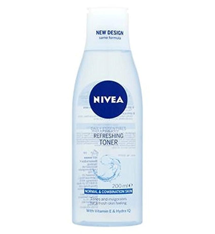 傑作石炭モネトナー200ミリリットルをリフレッシュニベア生活必需品 (Nivea) (x2) - Nivea Daily Essentials Refreshing Toner 200ml (Pack of 2) [並行輸入品]