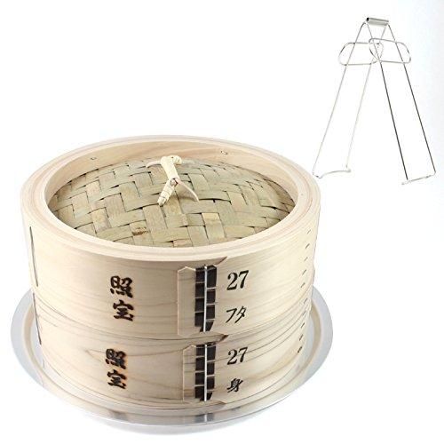 照宝 中華せいろ 桧 蒸し板セット 桧製 φ27cm(ツェンカ付)
