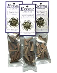 Purification (Sacred Cedar and Lavender) - Escential Essences Cone Incense - 16 Cone Package [並行輸入品]