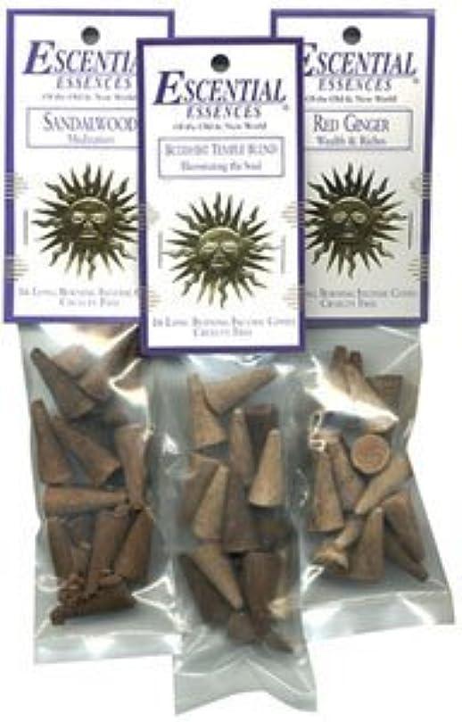 いとこ水曜日リダクターDragon 's Blood – Escential Essences Cone Incense – 16円錐パッケージ