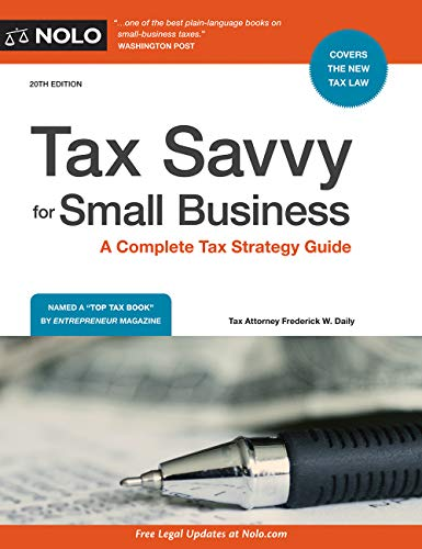 Download Tax Savvy for Small Business: A Complete Tax Strategy Guide 1413325785