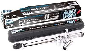 自動車用 バイク用 トルクレンチ 5pc プレセット アルミホイール対応 タイヤ交換 SOLIDE SD-101