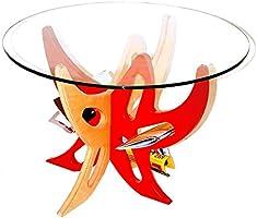 G.NUS furnITure - コーヒー テーブル Augusto カンバ材 & 強化 ガラス / ナチュラル ウッド & カスタム カラー