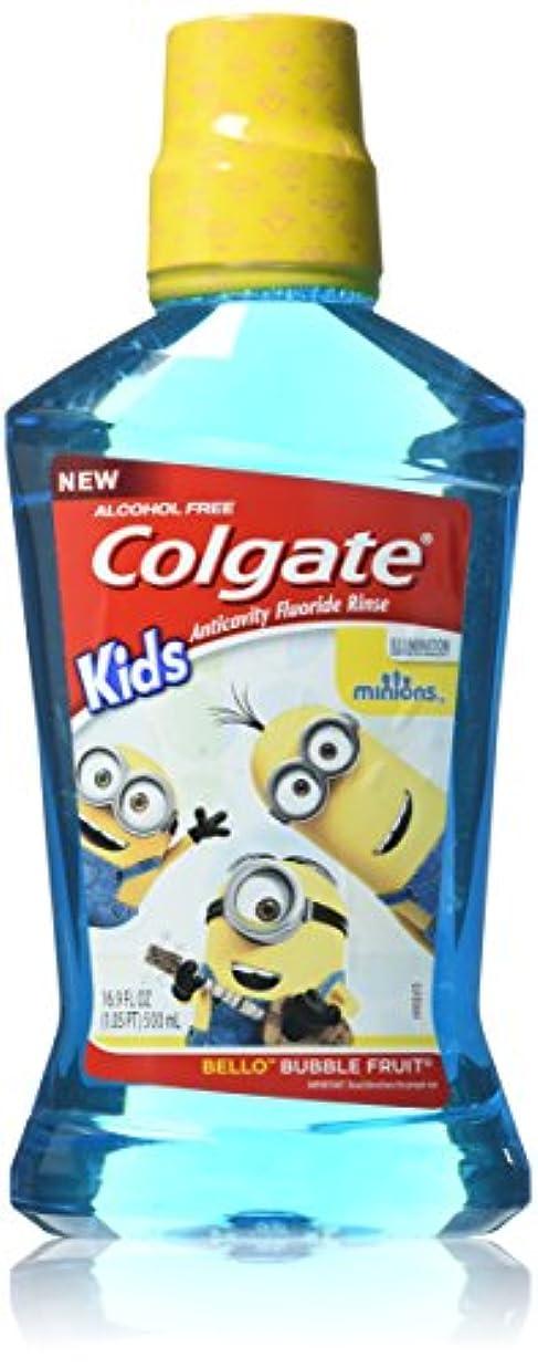 神の段落被害者Colgate キッズミニオンベロバブルフルーツ虫歯予防フッ素リンス、16.9オンス