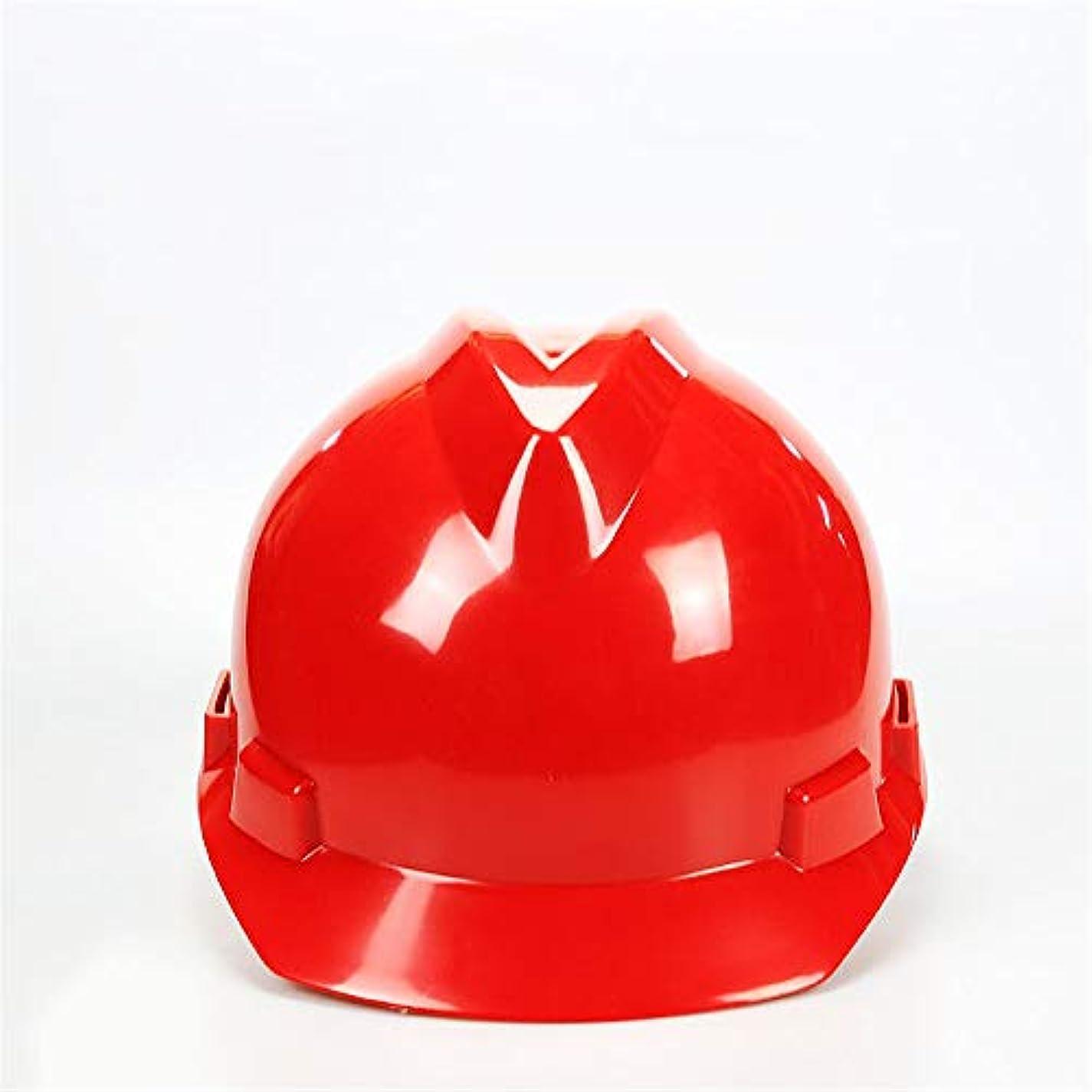 申請中印象的マニュアル安全ヘルメット ワンタッチスリップラチェットと調整システム (色 : 赤)