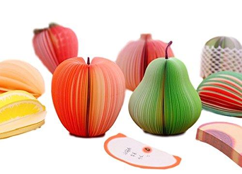 [シェル・フォレスト] フルーツメモ帳 立体 3D 盛り合わせ 網ネット付 10種類セット