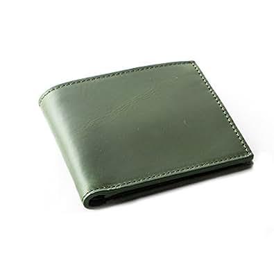 [Boosters] ブースターズ 二つ折り財布 小銭入れ付き 財布 薄型 本革 カード メンズ グリーン