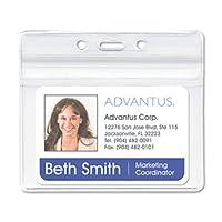 Advantus ® Resealable IDバッジホルダーバッジ、ホルダー、再シール、CR (パックof3)