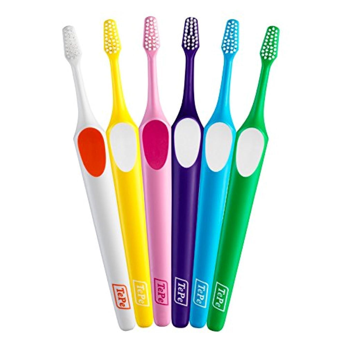 ではごきげんよう特性クマノミテペ(TePe) 歯ブラシ スプリーム コンパクト × 5本