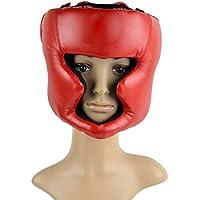 vansop Boxing Headgear FightingヘッドガードトレーニングSparringヘルメットThai Kickブレースヘッド保護レッド