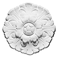 Focal Point 85004 Poppy Rosette 6 1/2-Inch Diameter by 1 1/4-Inch Projection, Primed White by Focal Point