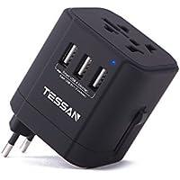 海外変換プラグBF・ A・O・Cタイプ 安全旅行USB充電器 コンパクトなマルチプラグ コンセント 変換アダプター 3USBポート壁の充電器 ヨーロッパ/アメリカ/イギリス/オーストラリア等世界中150ケ以上の国に対応
