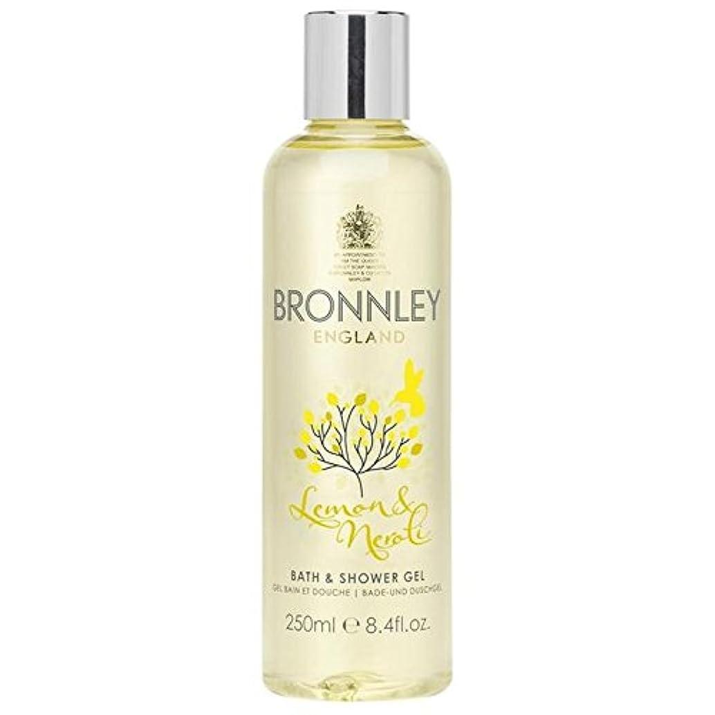 スムーズに広告する並外れてレモン&ネロリバス&シャワージェル250ミリリットル x4 - Bronnley Lemon & Neroli Bath & Shower Gel 250ml (Pack of 4) [並行輸入品]
