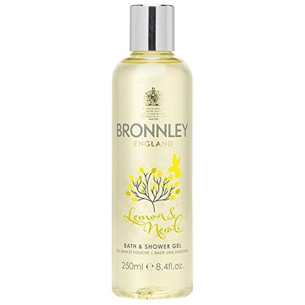 とらえどころのない信念明示的にレモン&ネロリバス&シャワージェル250ミリリットル x4 - Bronnley Lemon & Neroli Bath & Shower Gel 250ml (Pack of 4) [並行輸入品]