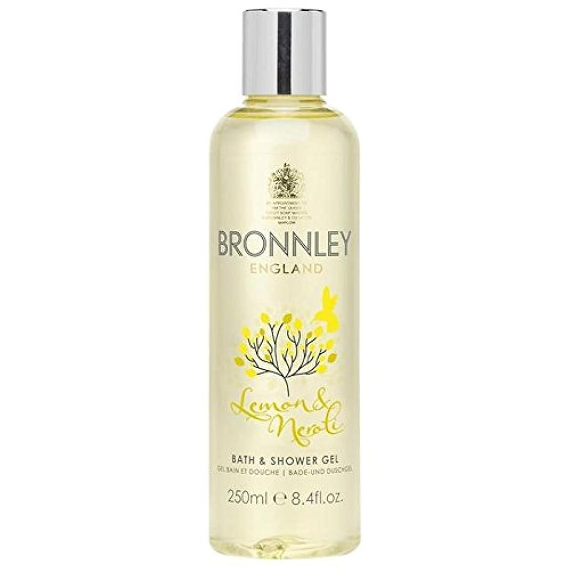 意欲圧縮する神秘的なレモン&ネロリバス&シャワージェル250ミリリットル x4 - Bronnley Lemon & Neroli Bath & Shower Gel 250ml (Pack of 4) [並行輸入品]