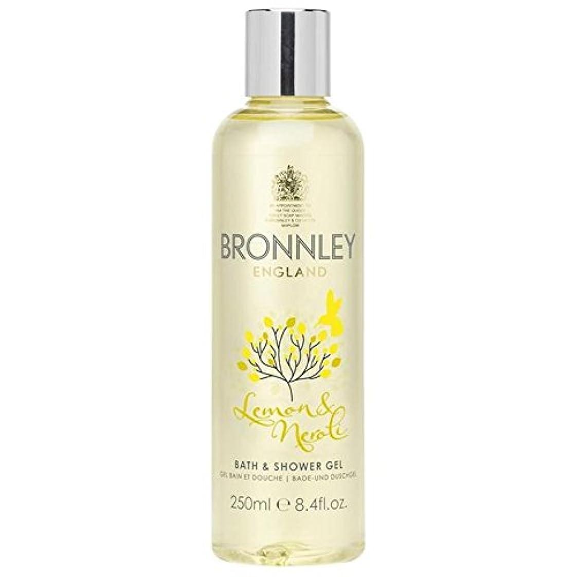 すすり泣き刈り取る急速なレモン&ネロリバス&シャワージェル250ミリリットル x2 - Bronnley Lemon & Neroli Bath & Shower Gel 250ml (Pack of 2) [並行輸入品]