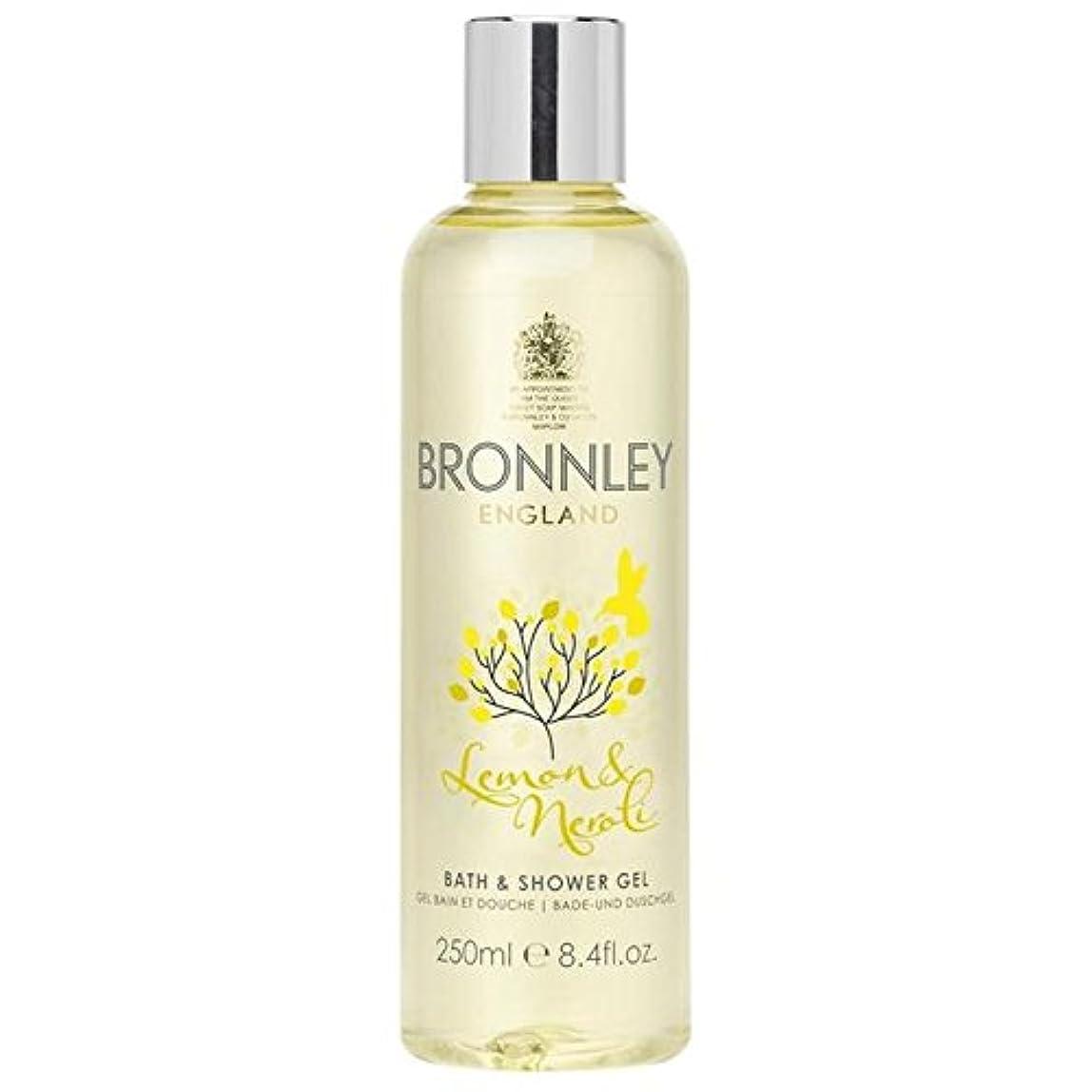 嵐が丘先行するマーチャンダイザーレモン&ネロリバス&シャワージェル250ミリリットル x2 - Bronnley Lemon & Neroli Bath & Shower Gel 250ml (Pack of 2) [並行輸入品]