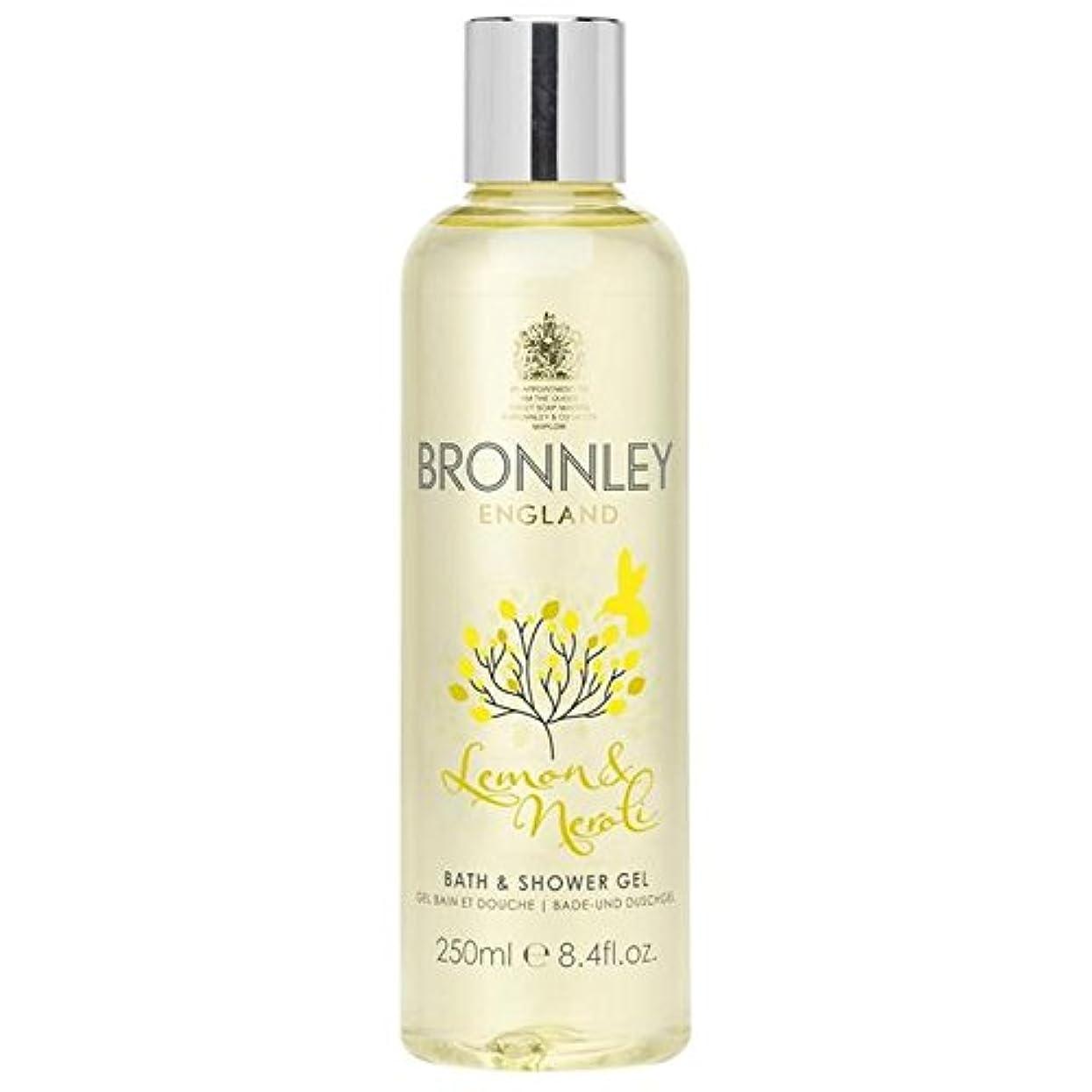 アルコール抵当同時レモン&ネロリバス&シャワージェル250ミリリットル x4 - Bronnley Lemon & Neroli Bath & Shower Gel 250ml (Pack of 4) [並行輸入品]