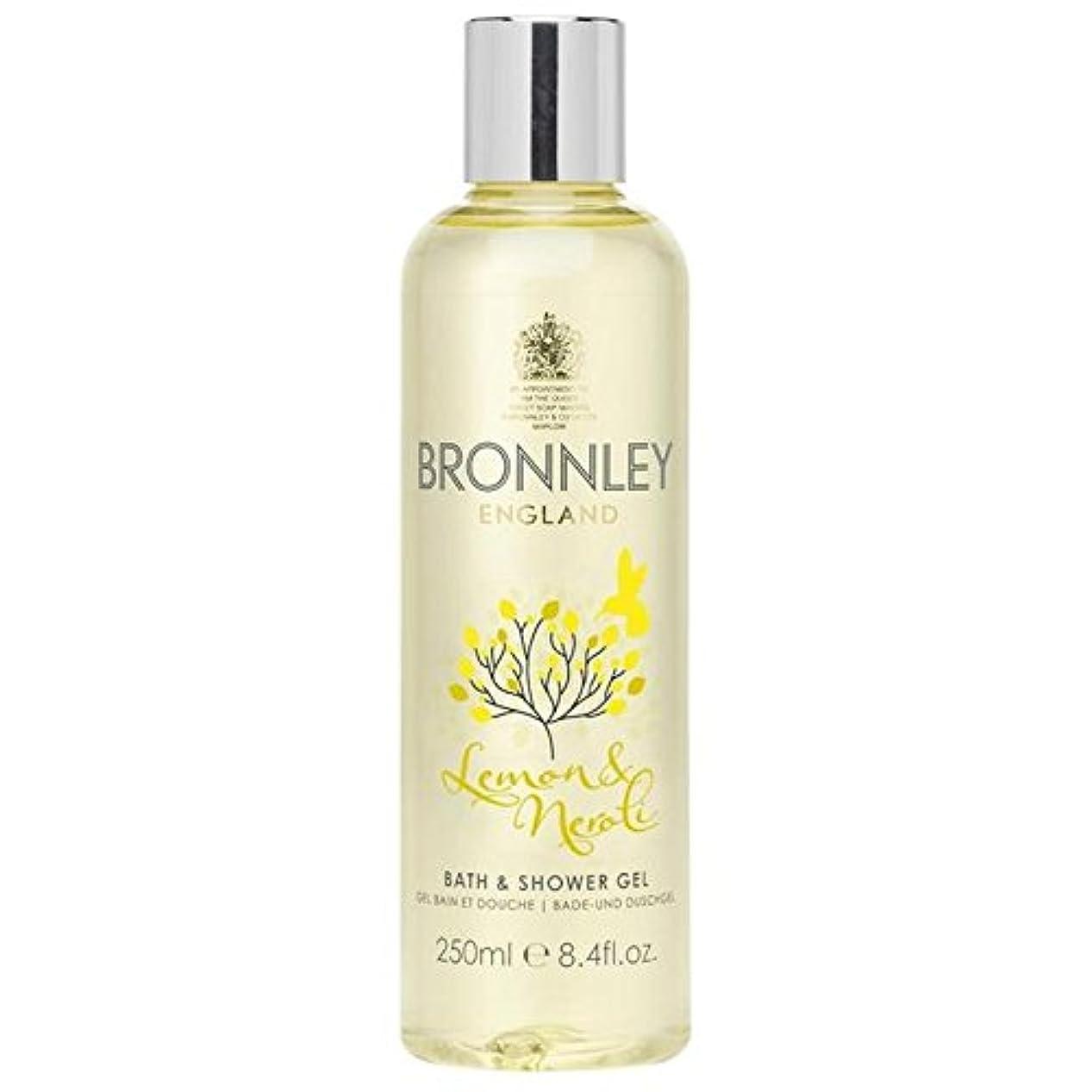 裁量優先権論理的レモン&ネロリバス&シャワージェル250ミリリットル x4 - Bronnley Lemon & Neroli Bath & Shower Gel 250ml (Pack of 4) [並行輸入品]