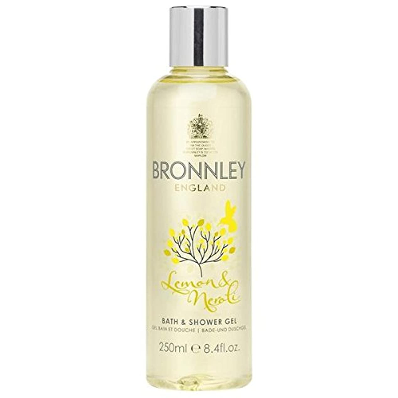 今王女違反レモン&ネロリバス&シャワージェル250ミリリットル x2 - Bronnley Lemon & Neroli Bath & Shower Gel 250ml (Pack of 2) [並行輸入品]