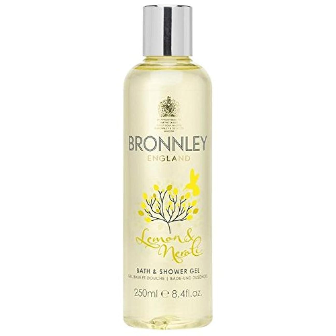 全国有名なサーフィンレモン&ネロリバス&シャワージェル250ミリリットル x4 - Bronnley Lemon & Neroli Bath & Shower Gel 250ml (Pack of 4) [並行輸入品]