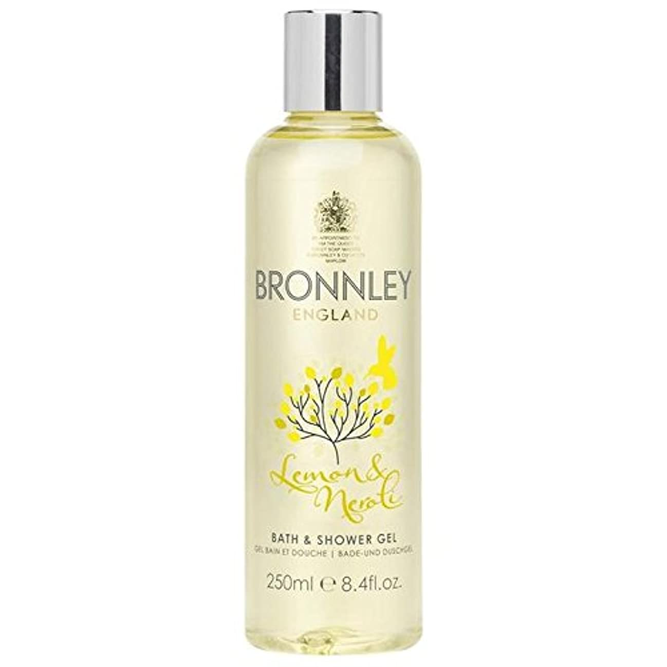 今晩チョップ不道徳レモン&ネロリバス&シャワージェル250ミリリットル x2 - Bronnley Lemon & Neroli Bath & Shower Gel 250ml (Pack of 2) [並行輸入品]