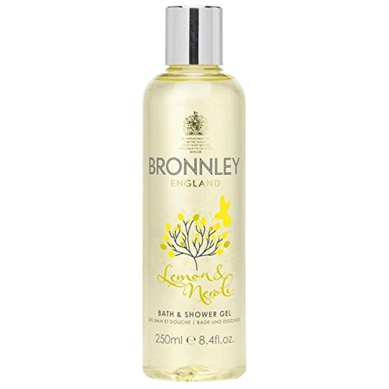 再生チャーター素敵なレモン&ネロリバス&シャワージェル250ミリリットル x4 - Bronnley Lemon & Neroli Bath & Shower Gel 250ml (Pack of 4) [並行輸入品]