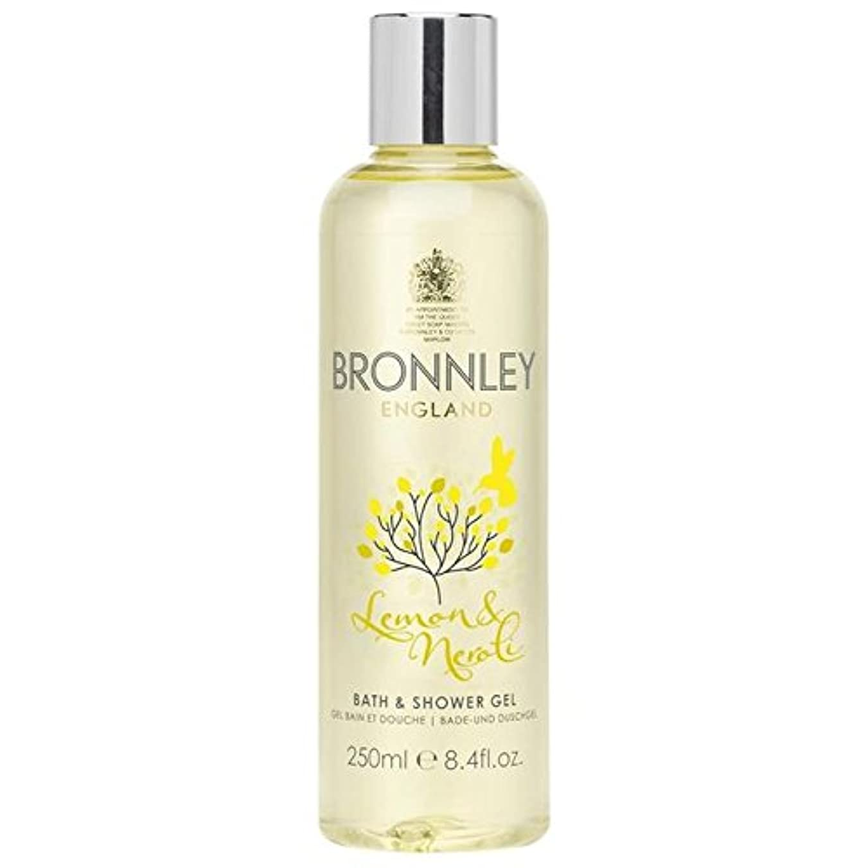 満了コンサート連合レモン&ネロリバス&シャワージェル250ミリリットル x4 - Bronnley Lemon & Neroli Bath & Shower Gel 250ml (Pack of 4) [並行輸入品]