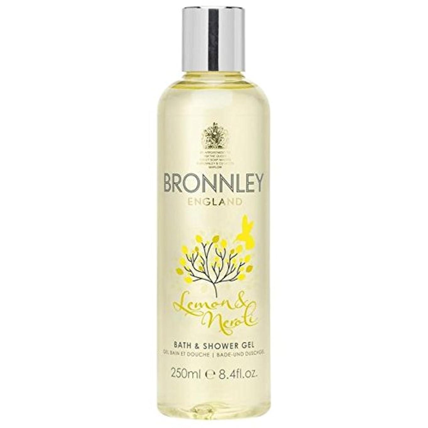 レモン&ネロリバス&シャワージェル250ミリリットル x4 - Bronnley Lemon & Neroli Bath & Shower Gel 250ml (Pack of 4) [並行輸入品]
