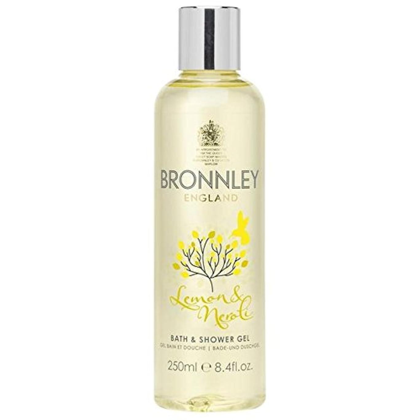 散逸痛い傾くレモン&ネロリバス&シャワージェル250ミリリットル x4 - Bronnley Lemon & Neroli Bath & Shower Gel 250ml (Pack of 4) [並行輸入品]