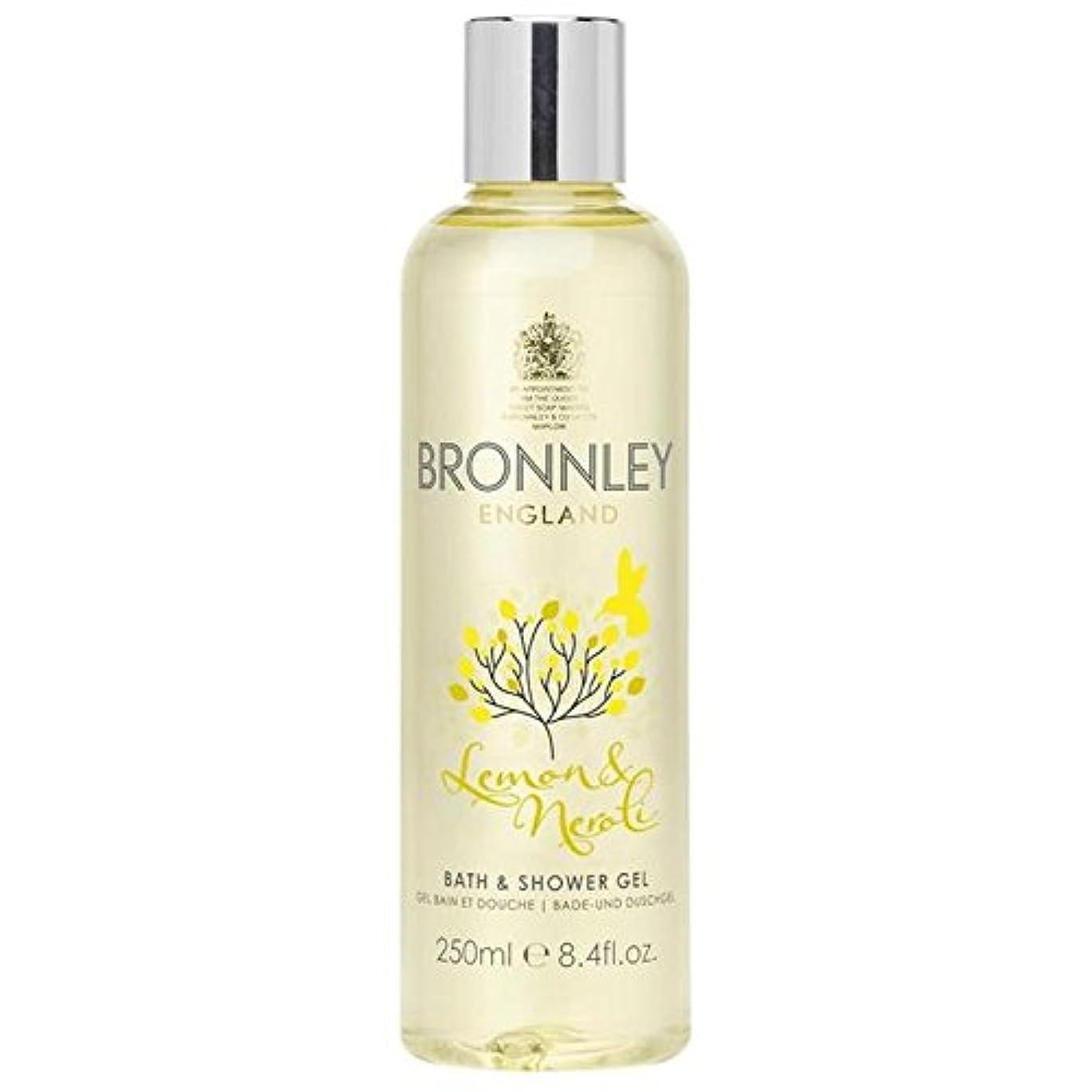 人類白い生命体Bronnley Lemon & Neroli Bath & Shower Gel 250ml - レモン&ネロリバス&シャワージェル250ミリリットル [並行輸入品]