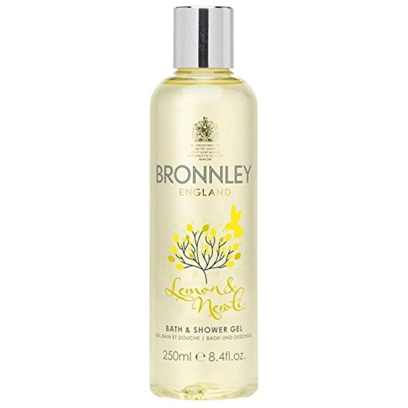 Bronnley Lemon & Neroli Bath & Shower Gel 250ml (Pack of 6) - レモン&ネロリバス&シャワージェル250ミリリットル x6 [並行輸入品]