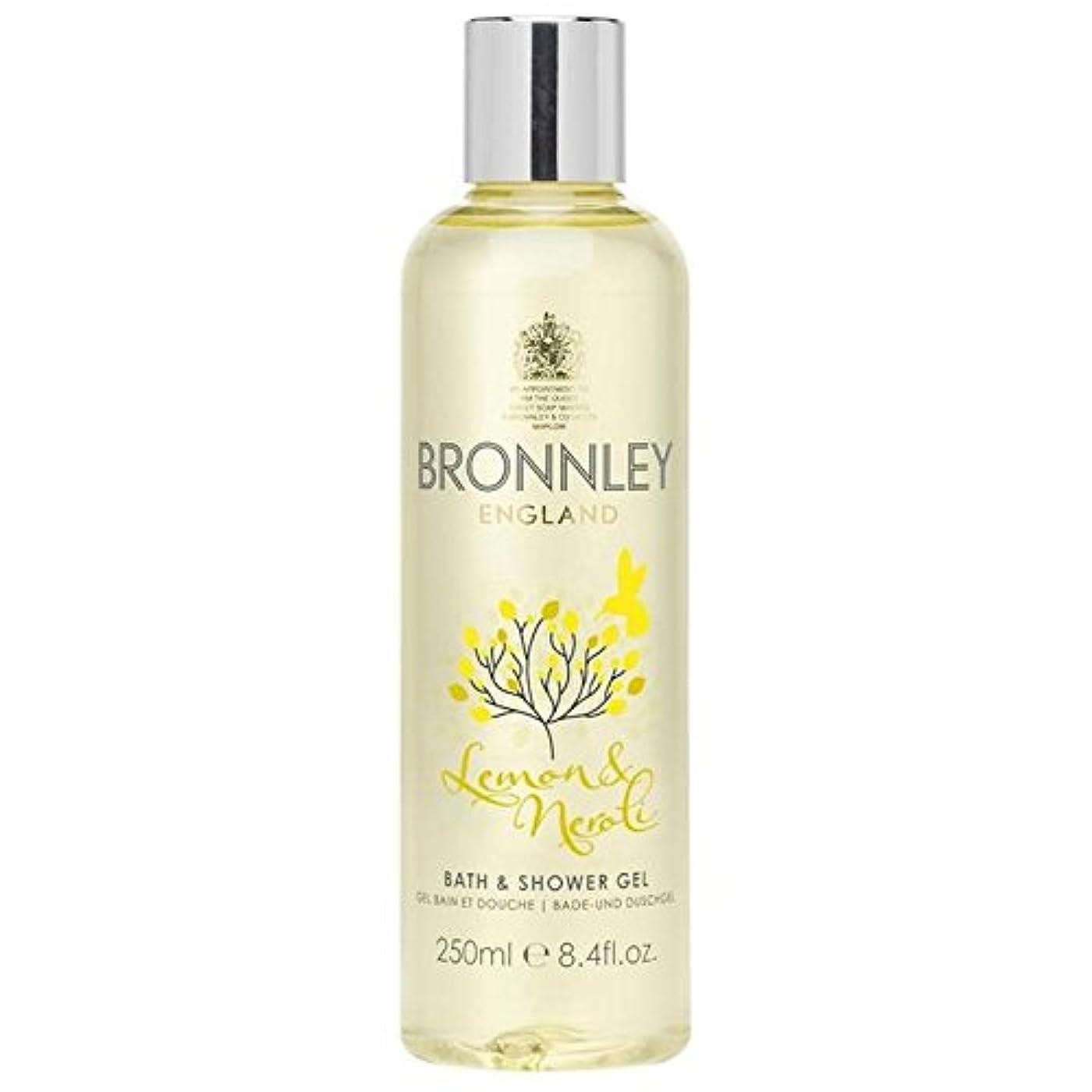 過度の逆に文芸レモン&ネロリバス&シャワージェル250ミリリットル x2 - Bronnley Lemon & Neroli Bath & Shower Gel 250ml (Pack of 2) [並行輸入品]