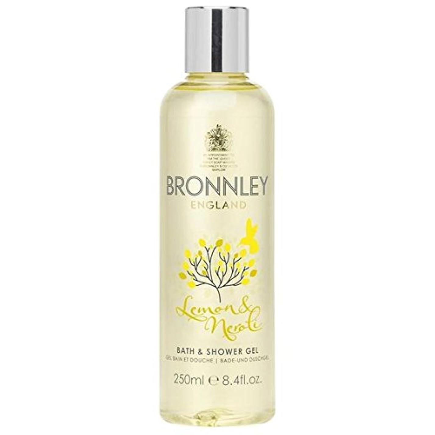 宴会みなす鰐レモン&ネロリバス&シャワージェル250ミリリットル x4 - Bronnley Lemon & Neroli Bath & Shower Gel 250ml (Pack of 4) [並行輸入品]
