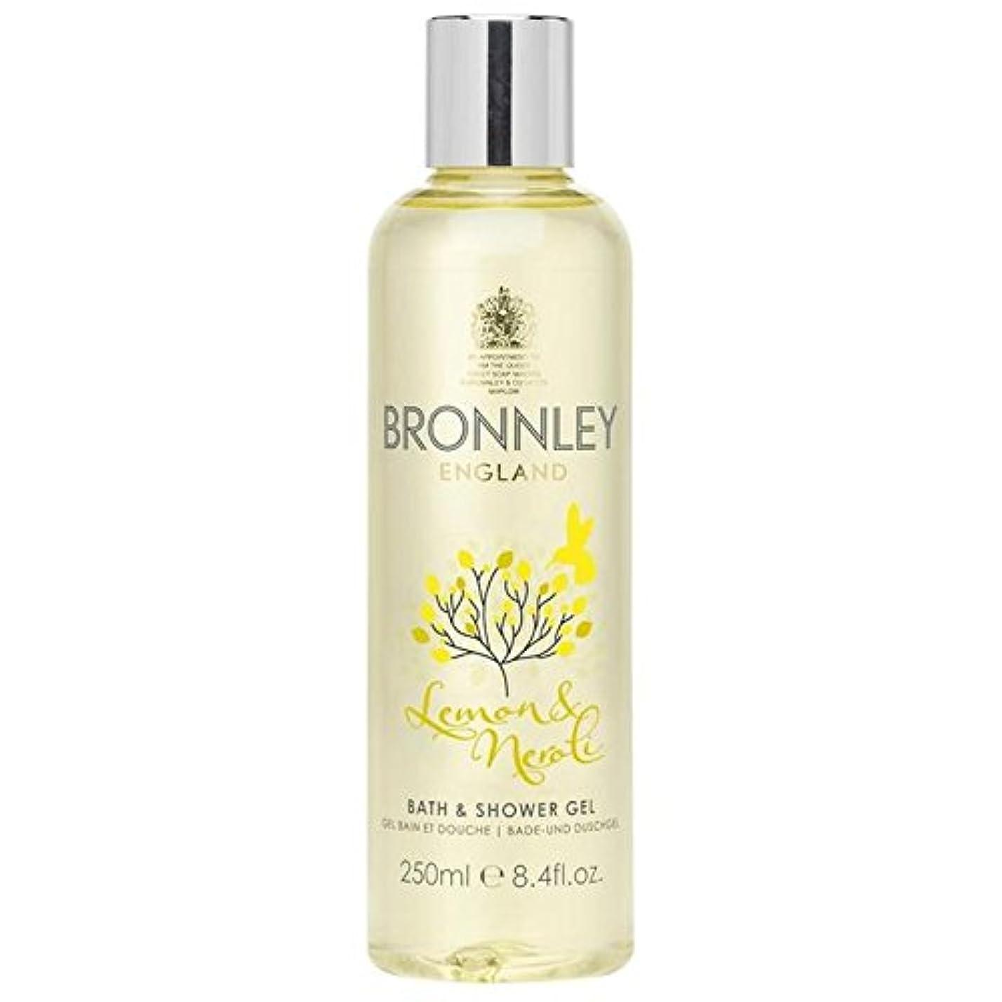 分類確認分岐するレモン&ネロリバス&シャワージェル250ミリリットル x4 - Bronnley Lemon & Neroli Bath & Shower Gel 250ml (Pack of 4) [並行輸入品]