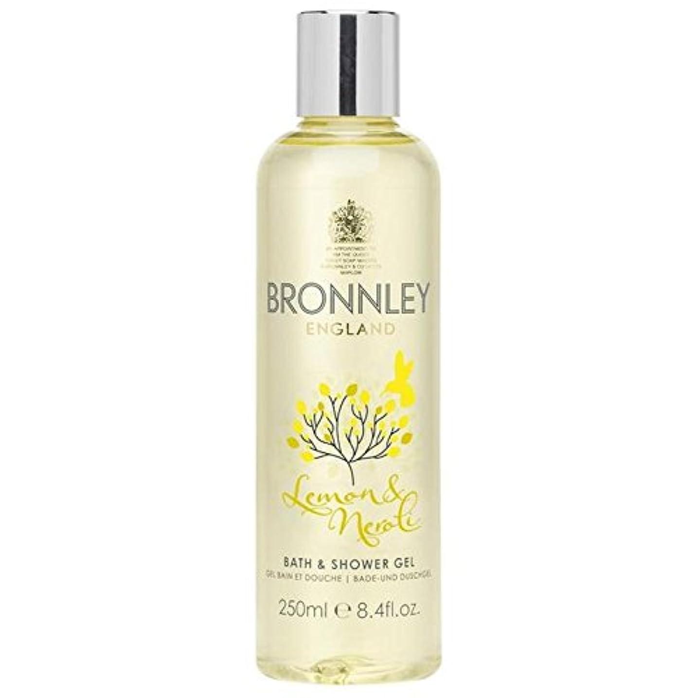 冷淡なそっと影レモン&ネロリバス&シャワージェル250ミリリットル x2 - Bronnley Lemon & Neroli Bath & Shower Gel 250ml (Pack of 2) [並行輸入品]