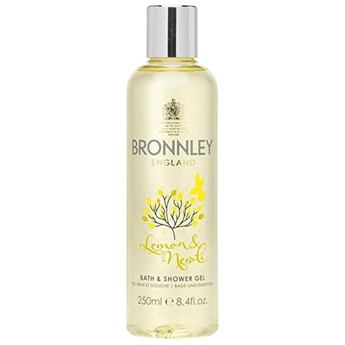 戦い破滅的なまでレモン&ネロリバス&シャワージェル250ミリリットル x4 - Bronnley Lemon & Neroli Bath & Shower Gel 250ml (Pack of 4) [並行輸入品]