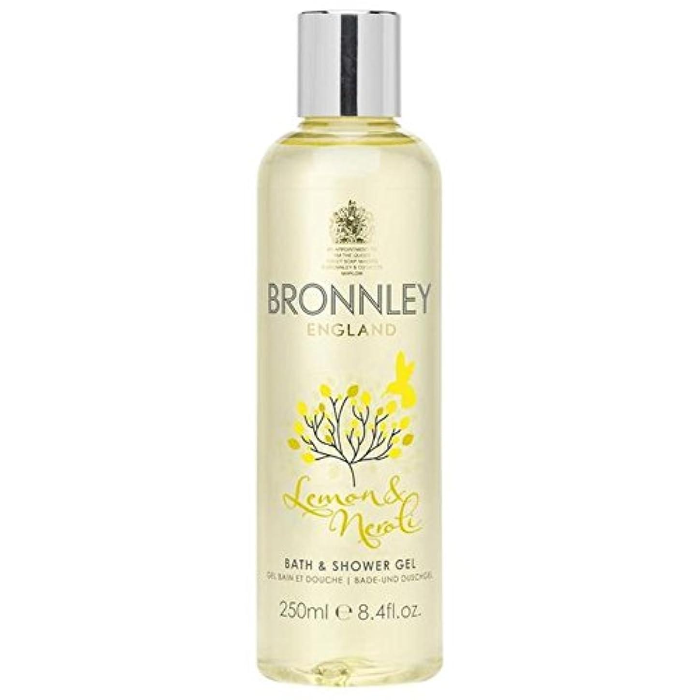 ポルティコ男棚レモン&ネロリバス&シャワージェル250ミリリットル x4 - Bronnley Lemon & Neroli Bath & Shower Gel 250ml (Pack of 4) [並行輸入品]
