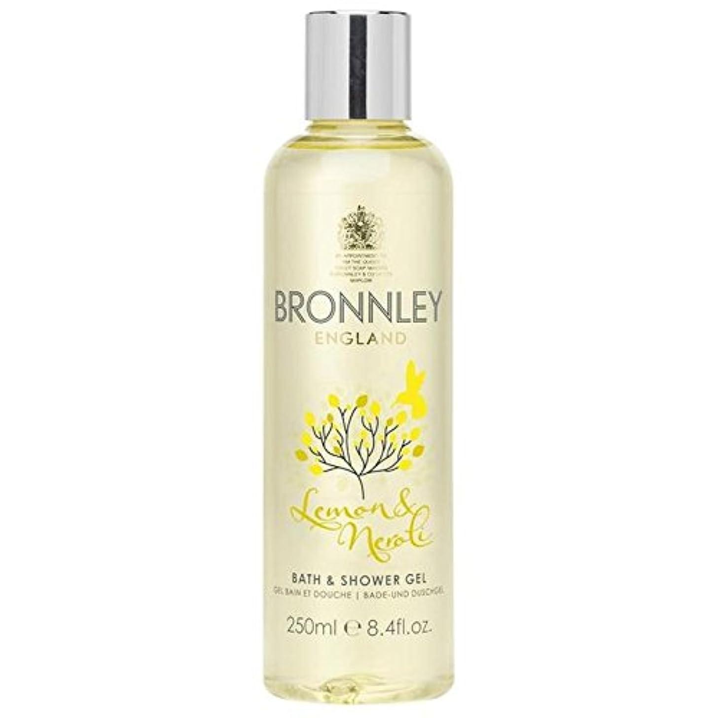 前者ルーキー旧正月レモン&ネロリバス&シャワージェル250ミリリットル x4 - Bronnley Lemon & Neroli Bath & Shower Gel 250ml (Pack of 4) [並行輸入品]