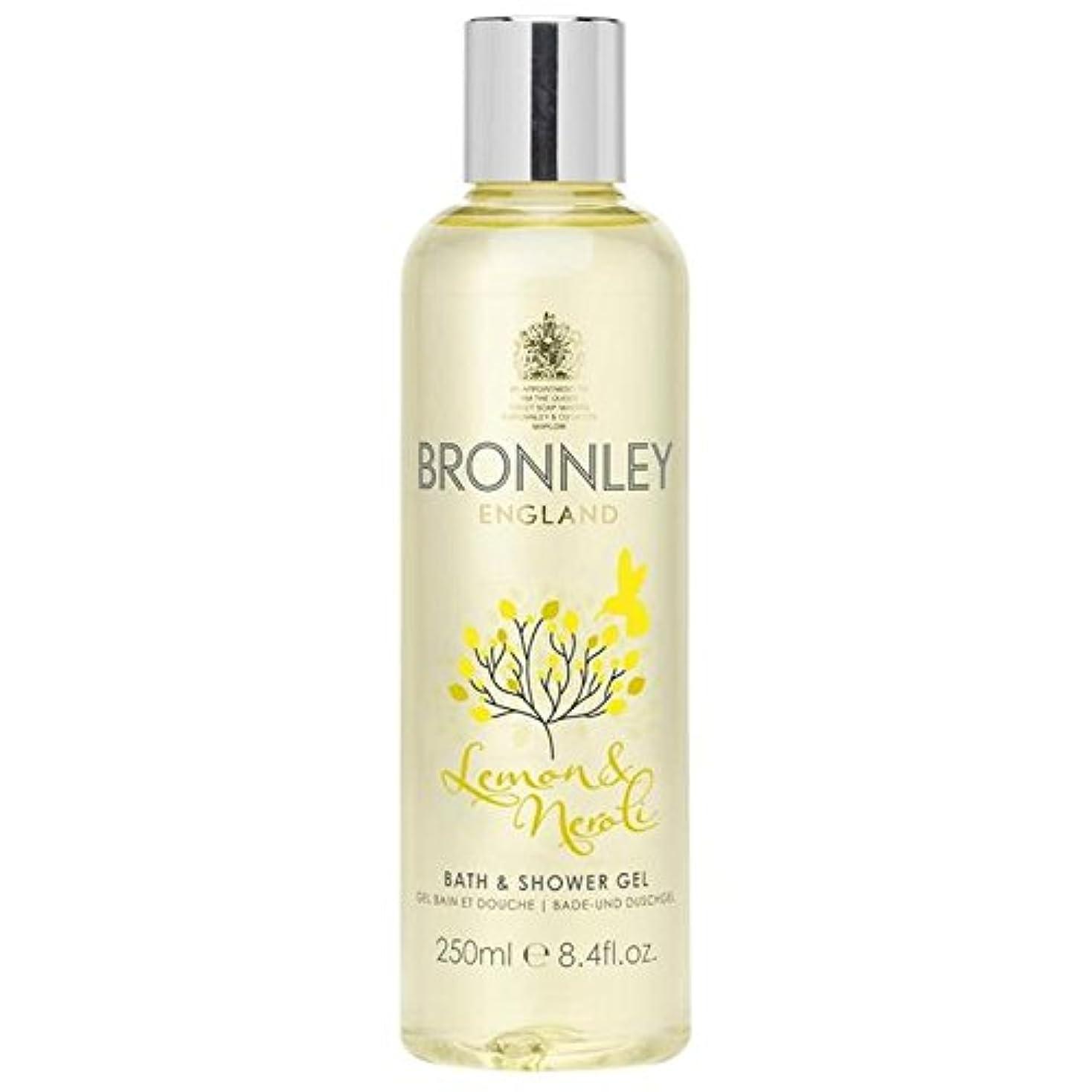 どちらも海里大きさレモン&ネロリバス&シャワージェル250ミリリットル x2 - Bronnley Lemon & Neroli Bath & Shower Gel 250ml (Pack of 2) [並行輸入品]