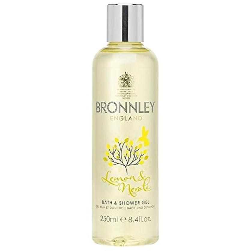 ロードハウスすずめ結果レモン&ネロリバス&シャワージェル250ミリリットル x4 - Bronnley Lemon & Neroli Bath & Shower Gel 250ml (Pack of 4) [並行輸入品]