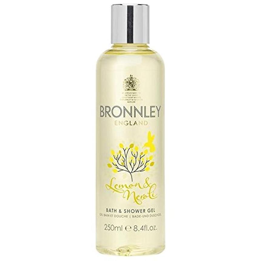 リテラシー極端な受粉するレモン&ネロリバス&シャワージェル250ミリリットル x4 - Bronnley Lemon & Neroli Bath & Shower Gel 250ml (Pack of 4) [並行輸入品]