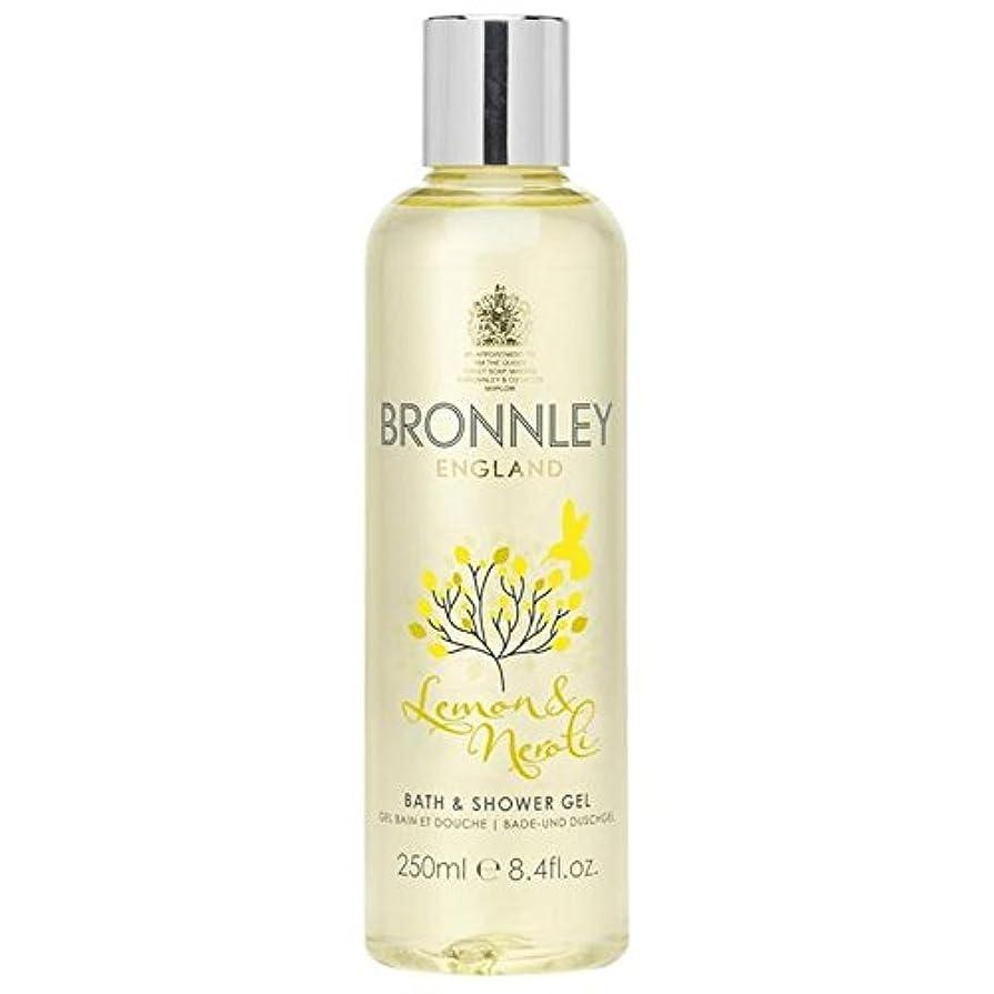 バーゲン姪フロンティアレモン&ネロリバス&シャワージェル250ミリリットル x4 - Bronnley Lemon & Neroli Bath & Shower Gel 250ml (Pack of 4) [並行輸入品]