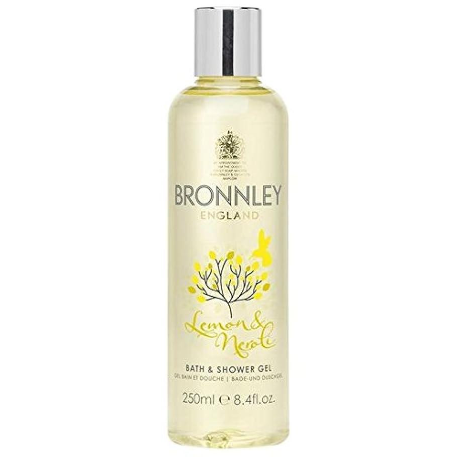 例示する失速スマートレモン&ネロリバス&シャワージェル250ミリリットル x4 - Bronnley Lemon & Neroli Bath & Shower Gel 250ml (Pack of 4) [並行輸入品]
