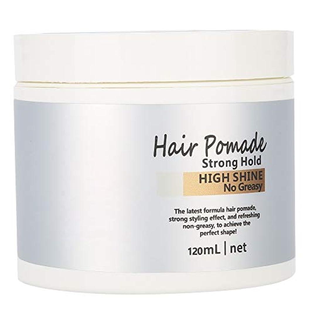 学校人事スリップシューズヘアワックス 髪用ゼリーウォータージェルワックス、ウェットエフェクトを使用した極度の固着モデリングワックスポマード(120ml)