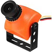 ランフィー マイクロ 1/3 CCD 600TVL パル 2.8 mm FOV 120 度 FPV ミニカメラ25※ 25mm FPV レーサー RC ドローン - 黒