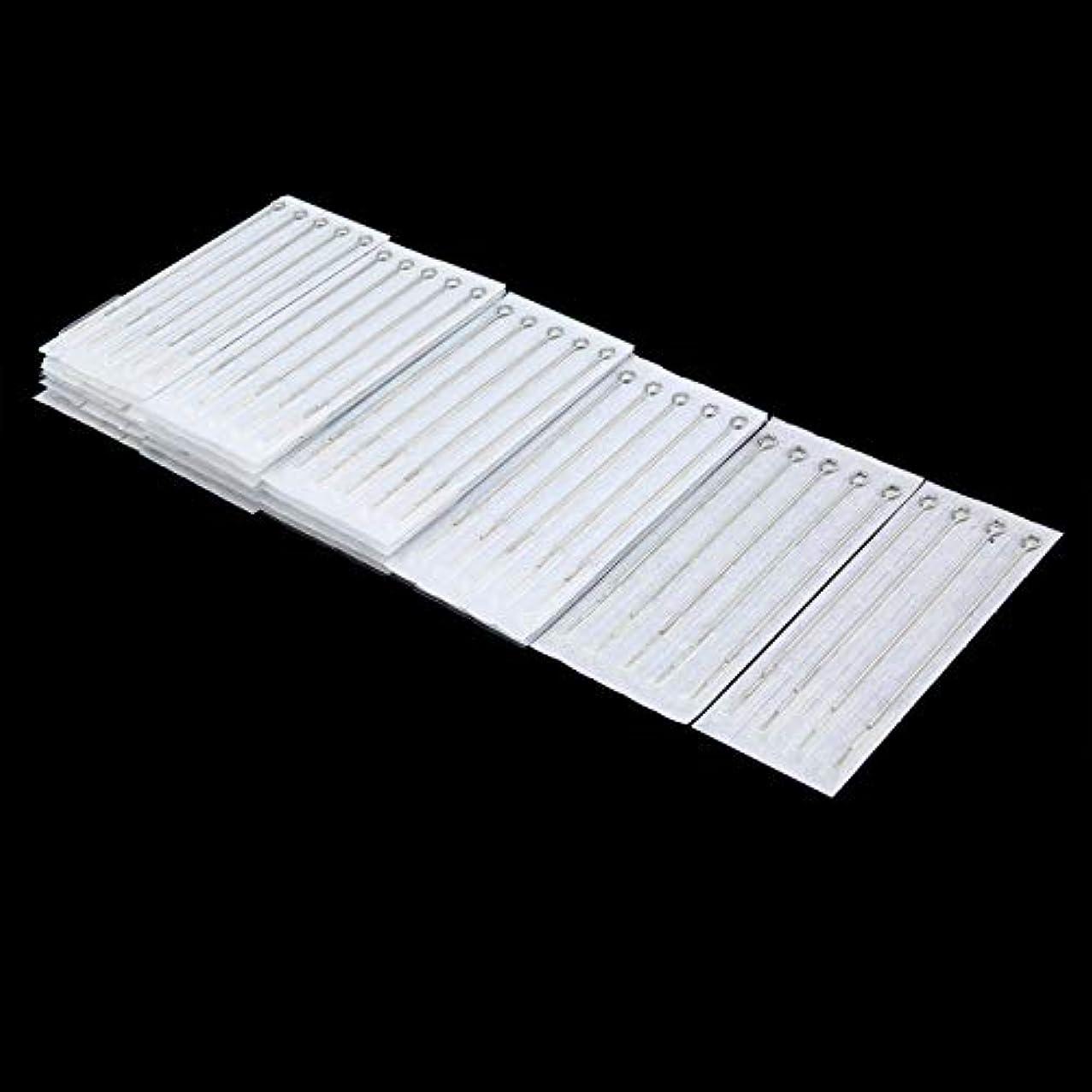 刺繍メロドラマ国際NancyMissY 100ピース使い捨てタトゥーニードルミックスサイズ滅菌タトゥーニードルセット用メイクアップツール1RL 3RL 5RL 3RS 5RS 5M1 5F